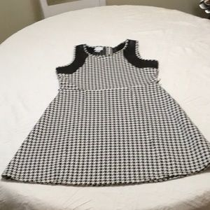 Houndstooth dress with pleather !